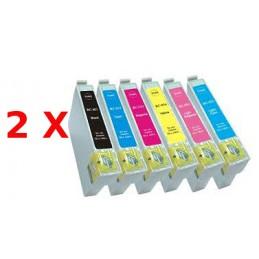 12 compatibili Epson serie Colibrì per P50 PX660 720 730 820 830