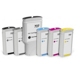 Black Matt Compa Hp Designjet  T1500,T2500,T920-130Ml 727