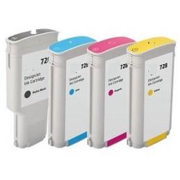 300ml Black Pigment Com Hp Designjet T730 ,T830 728BK