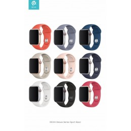 Cinturino Apple Watch 4 serie 44mm Delux Sport Red