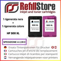 2 cartucce rigenerate HP nero colore 300XL DeskJet F2480 4280
