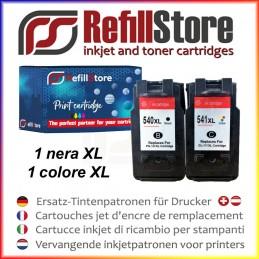 2 cartucce rigenerate CANON nero 540xl + colore 541xl MX370 520