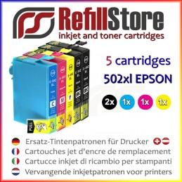 5 cartucce in sostituzione Epson XP5100 XP5105 XP5115 - WF2860