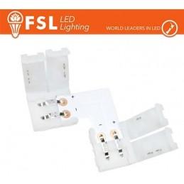 Connettore rapido L per strip LED monocolore 10mm